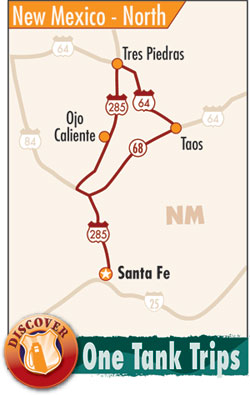 northern new mexico route map