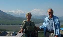 George and Jaimie with Denali Peak in the background
