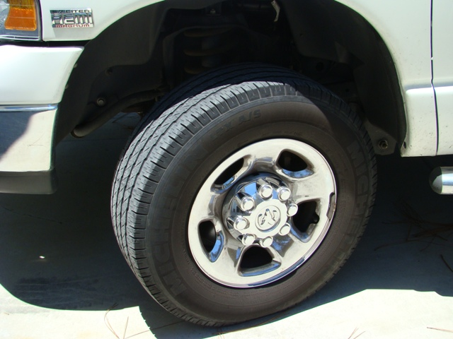 Close up of tire on truck or RV