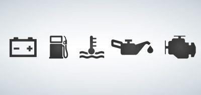 Car dashboard icons vector illustration