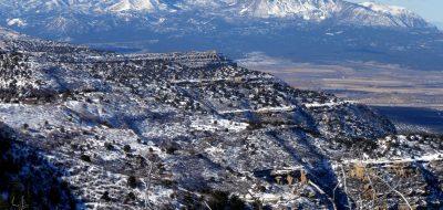 Head of the Sleeping Ute formation in southeast Utah