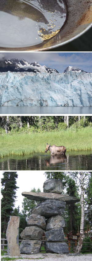 Real Gold in Our Pan, A wall of Ice, Mama Moose, an Inuksuk