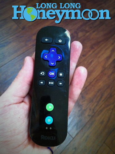 The Roku 2 & 3 remote control offers a headphone jack, for private late night listening. (Click the pic for more info.)
