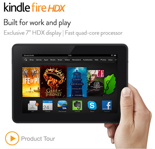 The new Kindle Fire HDX is powerful and lightweight. (Click the pic for more info.)