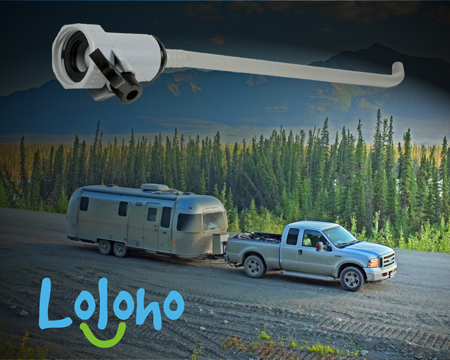 Here's a photo of a rinser wand alongside our rig on the Alaska Highway. Because just the wand by itself is kinda boring. (CLICK THE PIC to get your own.)