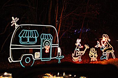The RV lifestyle was part of the display at the Festival of Lights.