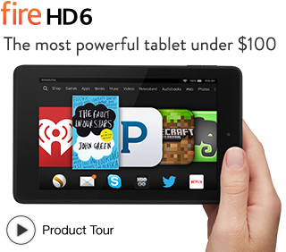 The new Kindle Fire 6 is only $99, making it one of the best bargain tablets available today. (Click the pic for more info.)
