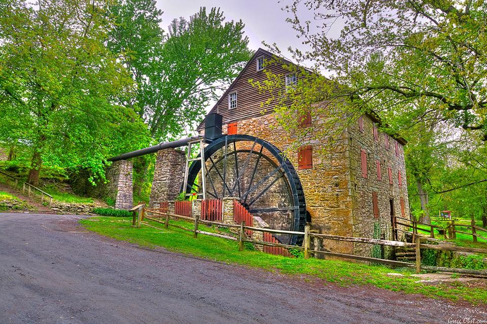 Located in Susquehanna State Park, Rock Run Grist Mill was built in 1794