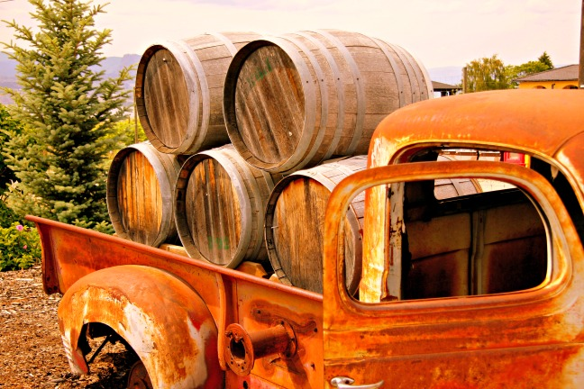 When you take a photo and choose where things are placed within the frame, know why you're doing it. Photo above The Old Wine Truck at Red Rooster Winery in BC (British Columbia) Wine Country (Okanagan Valley). © Rex Vogel, all rights reserved