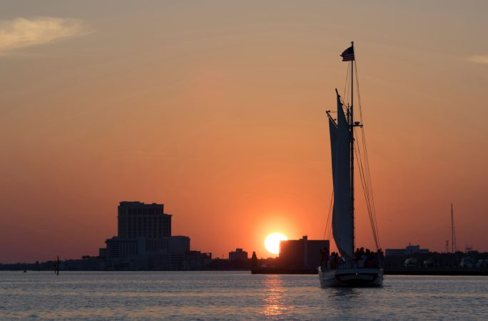 Sailing off the Gulf Coast of Biloxi