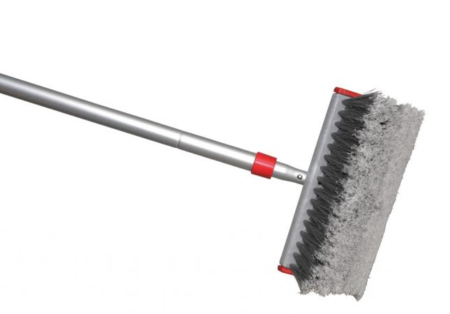 Grey car scrub brush
