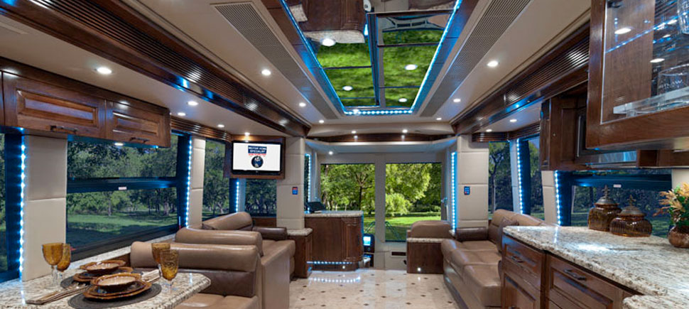Tradeoffs of conversion coaches good sam camping blog for Million dollar motor coaches