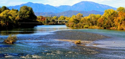 When traveling south on I-15, consider spending time at Redding in Northern California. Image above, Sacramento River looking west from the iconic Sundial Bridge. © Rex Vogel, all rights reserved