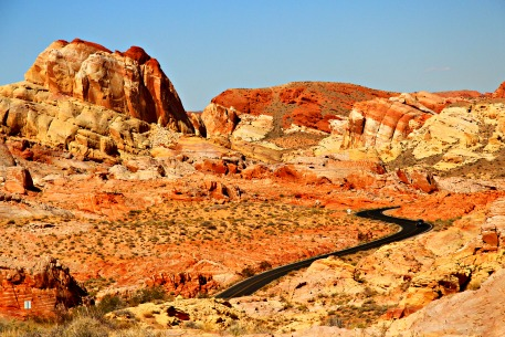 Enjoy your journey south with a stop at Valley of Fire State Park, north of Las Vegas. © Rex Vogel, all rights reserved
