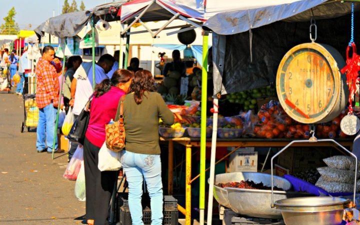 Galt Farmers Market near Lodi, California © Rex Vogel, all rights reserved
