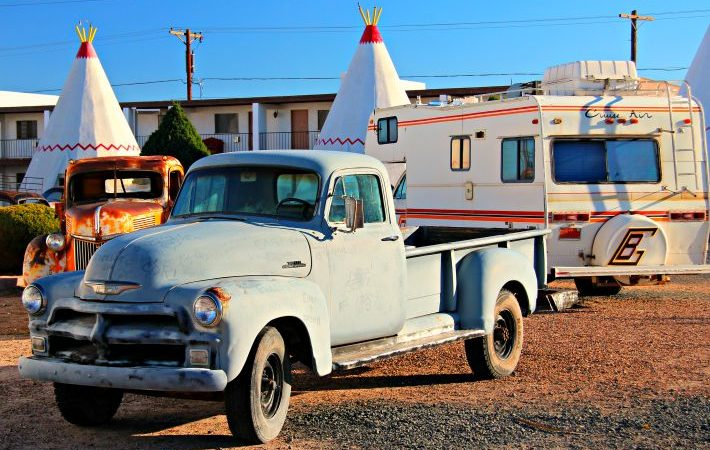 Spend the night in the very cool Wigwam Motel. © Rex Vogel, all rights reserved