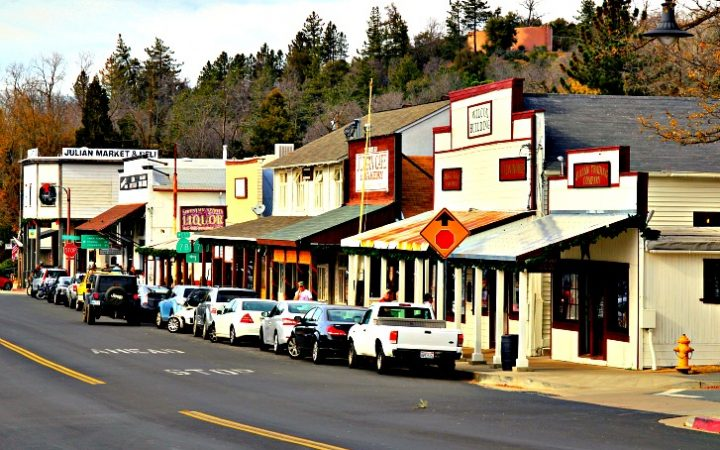 The original mining-era buildings in Julian are now home to unique shops. © Rex Vogel, all rights reserved