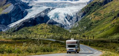 RV at Worthington Glacier