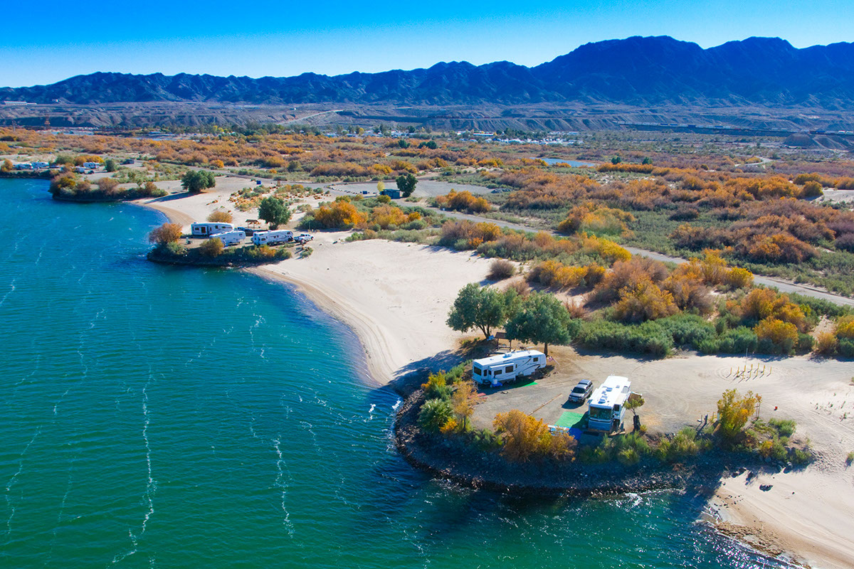 RV sites on the Colorado River