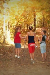 Girls in Woods at Cross Creek Camping Resort