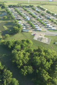 Aerial View of Bluebonnet Ridge RV Park & Cottages