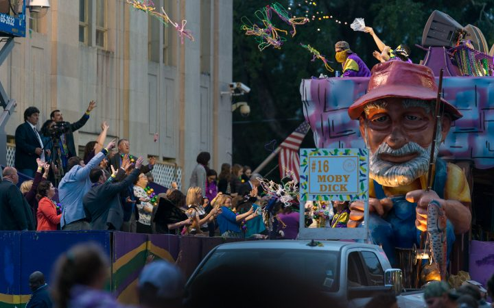 Mardi Gras at Houma County - onlookers
