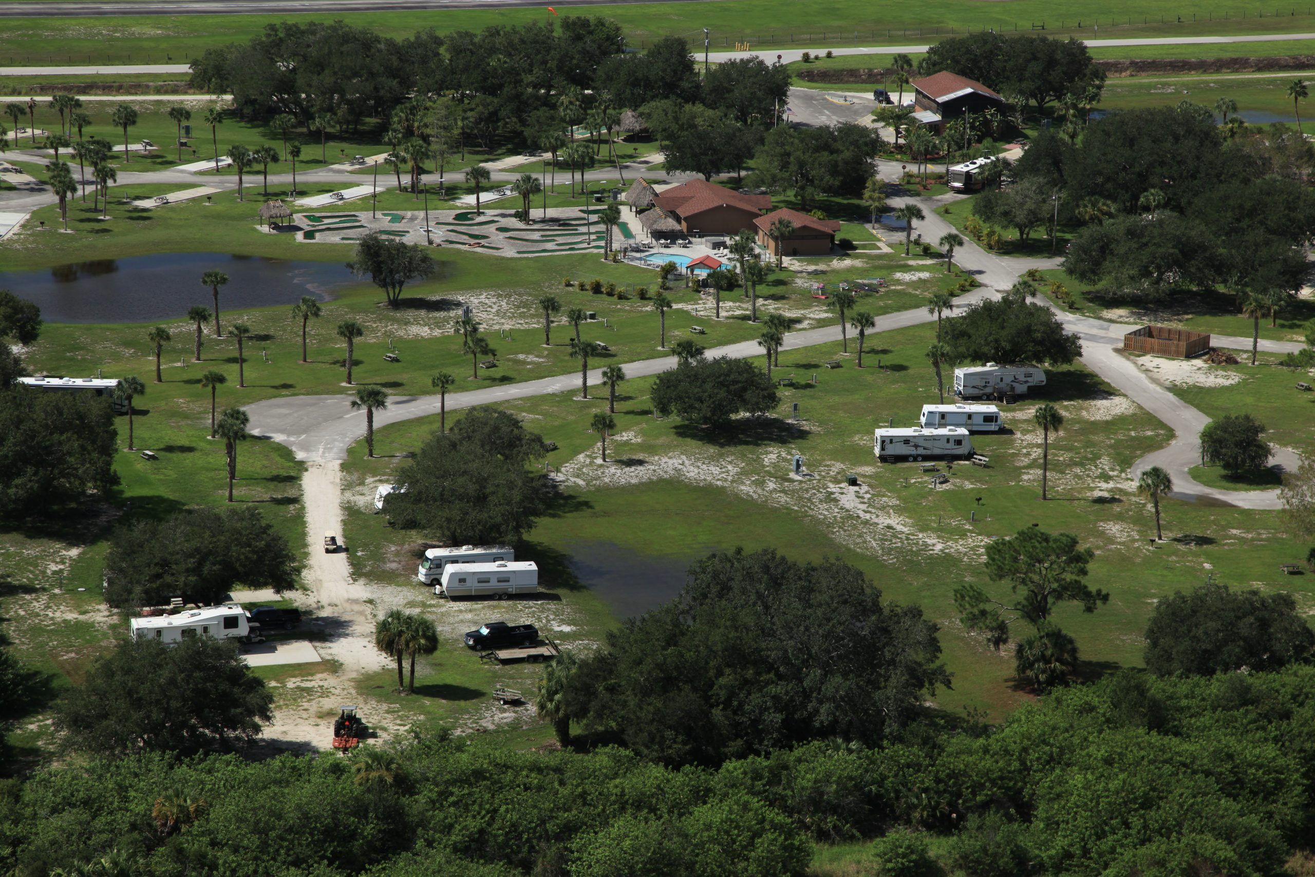 Big Cypress RV Resort & Campground aerial view
