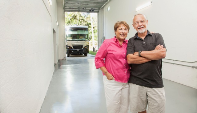 Couple in their garage at Lake Weir Preserve