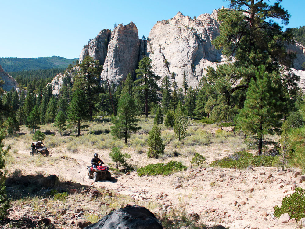 ATV trails at Boulder Mountain, Bryce Canyon Country