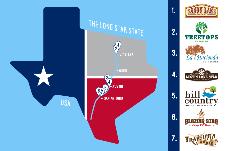 Texas Food State Map