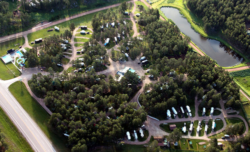 Beaver Lake Campground - aerial view
