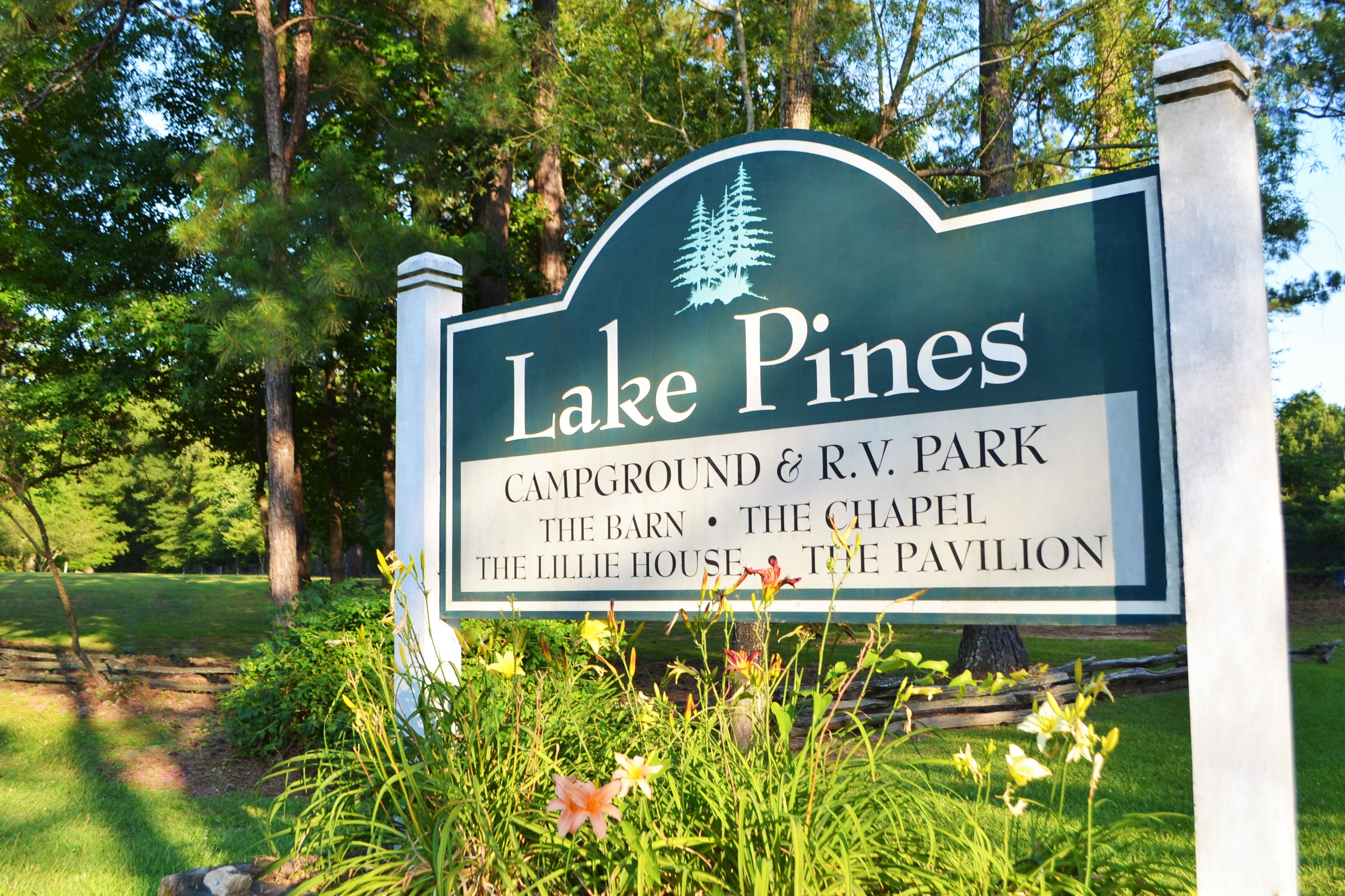 Lake Pines Campground and RV Park - sign