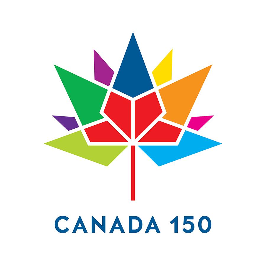 Canada 150 colorful leaf logo