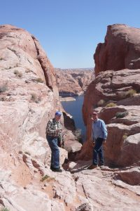 View of hikers at Grand Staircase Resort of Escalante