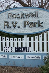 Rockwell RV Park - sign