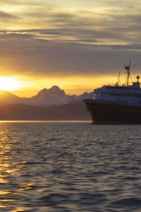 Alaska Marine Highway - Ferry at sunset