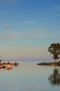 Quinte's Isle Campark - Ontario Lake shoreline