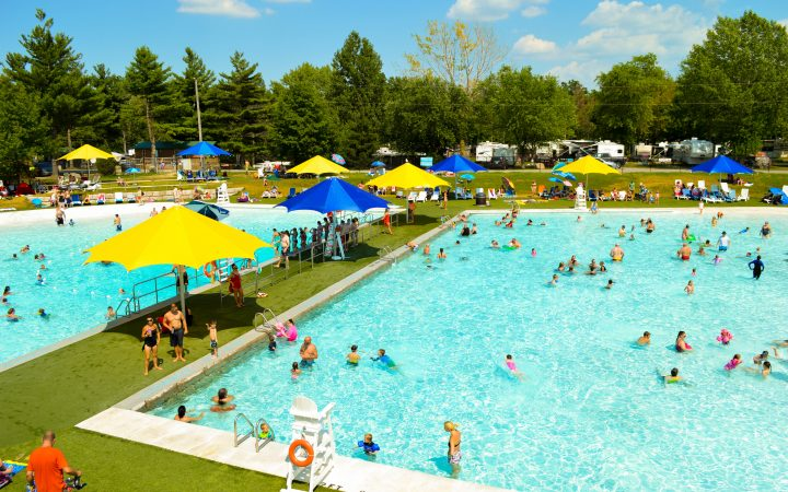 Bissell's Hideaway - aerial view of pool