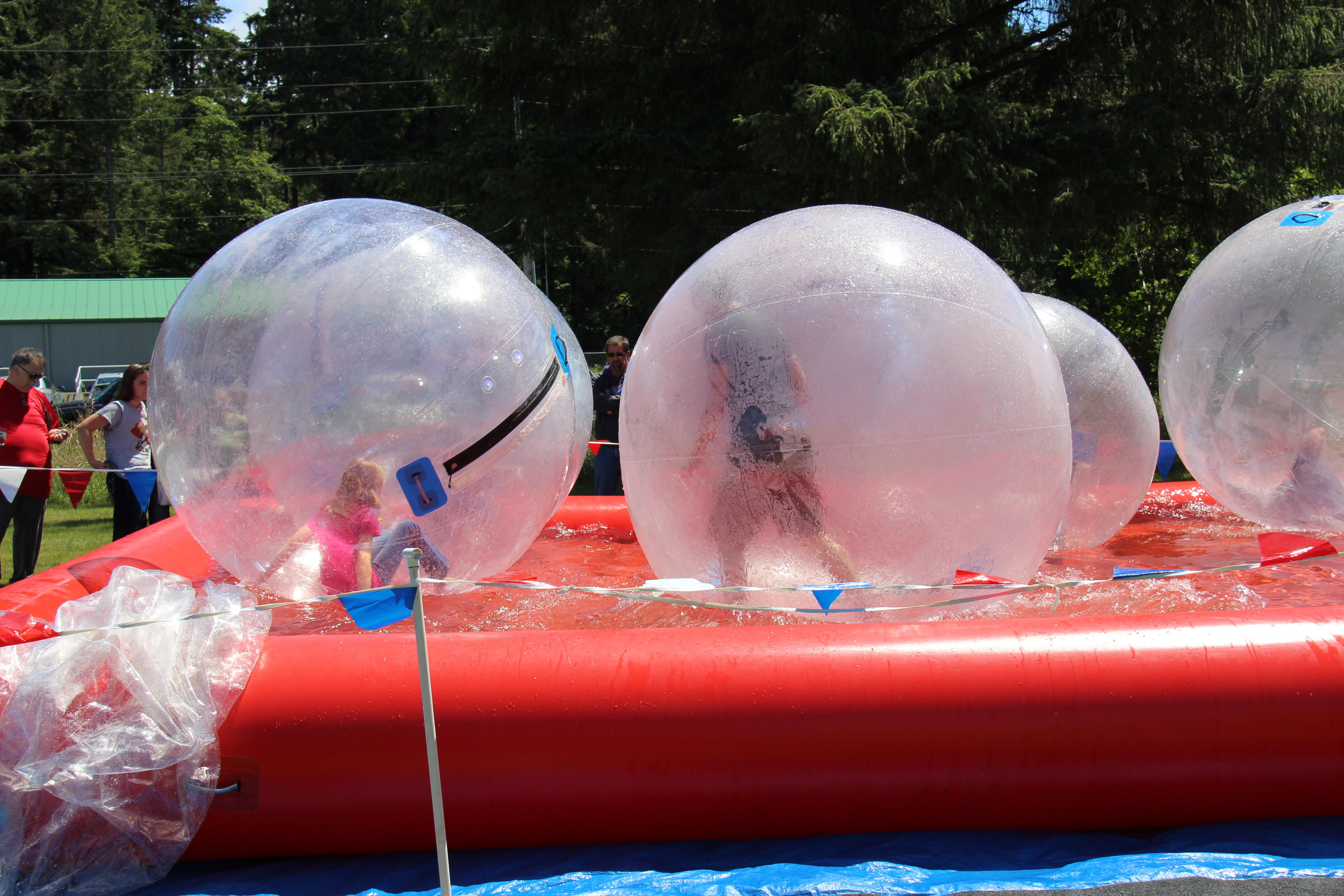 Northwest Garlic Festival - water ball activity