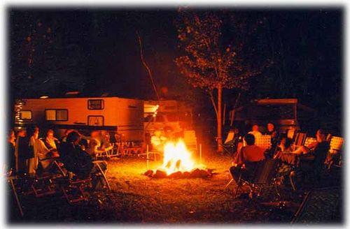 KOA Milton Family Camping - firepit