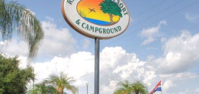 Riverside RV Resort - sign