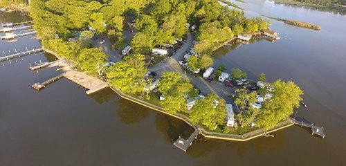 Bar Harbor RV Park & Marina - aerial view