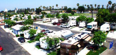 Anaheim RV Park - aerial view of RV sites