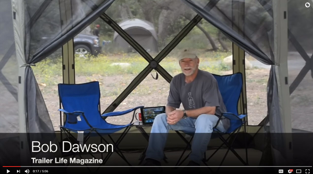 Trailer Lifeu0027s Bob Dawson walks you through a video review of the QuickSet Escape. A no-assembly canopy/screen room made by ClamOutdoors. & VIDEO: Review of QuickSet Escape No-Assembly Canopy/Screen Room ...