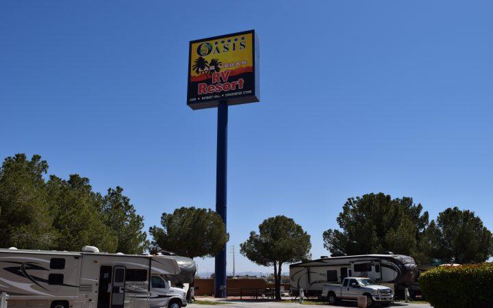 Oasis Las Vegas RV Resort - sign