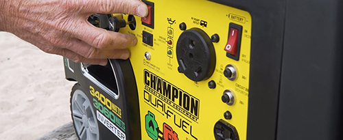 champion watt dual fuel inverter generator sponsored by champion power equipment