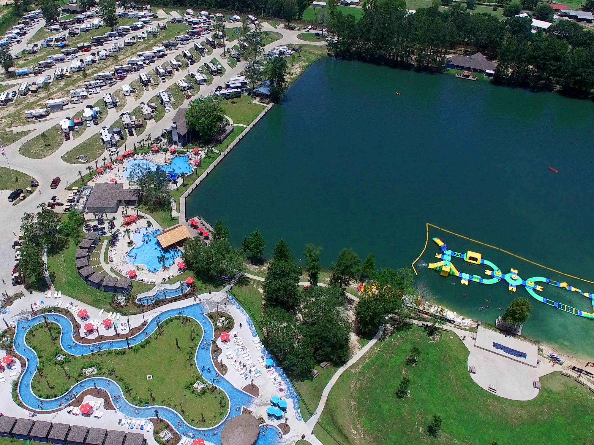 Reunion Lake RV Resort - aerial view