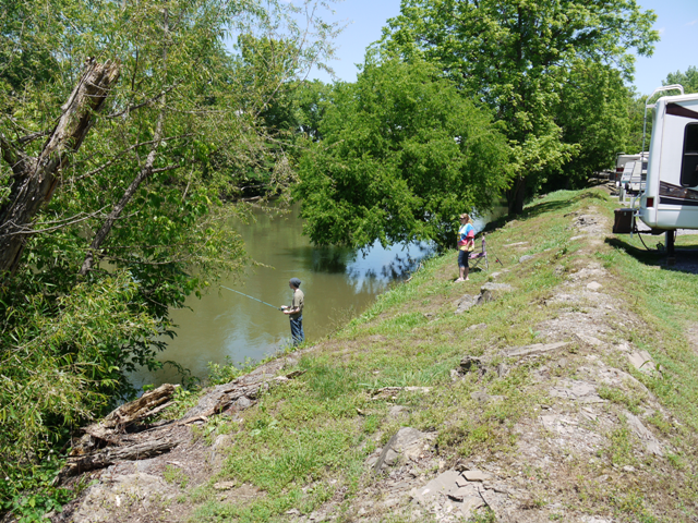 Ripplin' Waters Campground - fishing by the river