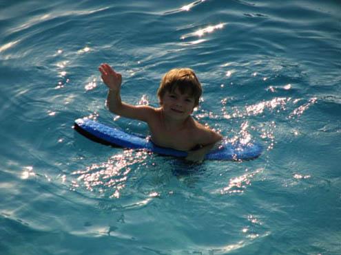 River Run RV Park - boy in pool