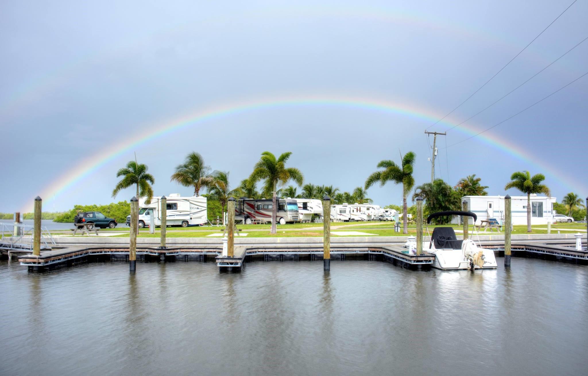 San Carlos RV Resort and Marina with Rainbow